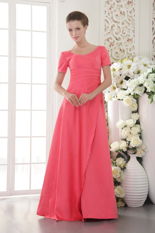 Coral Red Bridesmaid Dresses